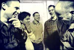 Tortoise laughing circa 1996. Photo by James Warden