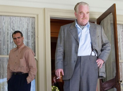 Joaquin Phoenix and Philip Seymour Hoffman in 'The-Master.' Image courtesy of Annapurna Pictures.