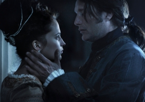 Alicia Vikander and Mads Mikkelsen in 'A Royal Affair.' Image courtesy of Magnolia Pictures.