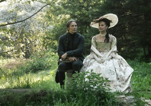 Mads Mikkelsen and Alicia Vikander in A ROYAL AFFAIR, a Magnolia Pictures release. Photo courtesy of Magnolia Pictures.