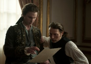 Mikkel Boe Følsgaard and Mads Mikkelsen in A ROYAL AFFAIR, a Magnolia Pictures release. Photo courtesy of Magnolia Pictures.