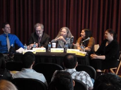 Critics panel at the Miami International Film Festival. Photo by Hans Morgenstern