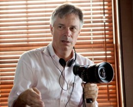 Whit Stillman on set of Damsels. Image courtesy of Sony Pictures Classics