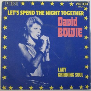 david bowie let spend the night together 7-inch