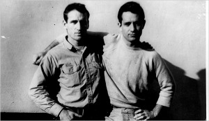 Neal Cassady and Jack Kerouac. Photo by Carolyn Cassady.