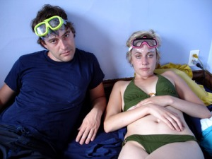 Mark Duplass and Greta Gerwig in Hannah Takes the Stairs