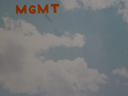 MGMT vinyl clouds. Photo by Hans Morgenstern