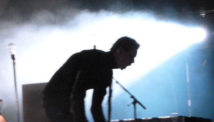 Jonsi fronting the ecstatic finale of Sigur Ros in Miami. Oct. 9, 2013. Photo by Ana Morgenstern.
