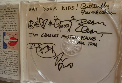 Dead Milkmen autographs. Photo by Hans Morgenstern