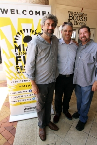 Mitch Kaplan of Books and Books, Jaie Laplante of MIFF and Chef Allen Susser