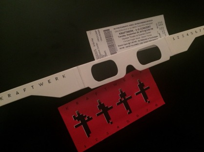 KW glasses and ticket