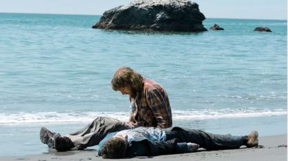 Paul Dano and Manny prop in Swiss Army Man